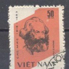 Sellos: VIETNAM,1982 KARL MARX. Lote 240722035