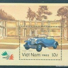 Sellos: VIETNAM 1985 CLASSIC CARS MNH - CARS. Lote 241351380