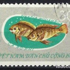 Selos: VIETNAM DEL NORTE 1963 - FAUNA, TILAPIA MOSSAMBICA - USADO. Lote 270230973