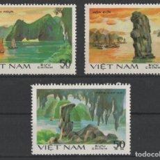 Francobolli: VIETNAM 1984 BAHIA DE HA-LONG UNESCO 3 SELLOS USADOS * LEER DESCRIPCION. Lote 278270843