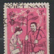 Sellos: VIETNAM 1987 ZODIACO CHINO SELLO USADO * LEER DESCRIPCION. Lote 278271563