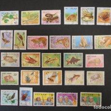 Francobolli: VIETNAM-LOTE 135 SELLOS DIFERENTES-4 FOTOS. Lote 279577388