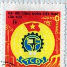 Francobolli: ASÍA. VIETNAM 4º CONGRESO NACIONAL DE SINDICATOS.1978-YT-128. USADO CON CHARNELA.. Lote 286758408