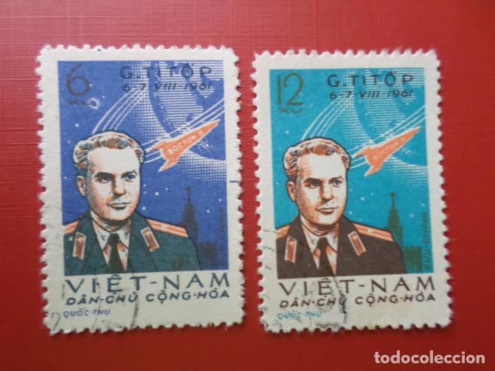 VIETNAM DEL NORTE, 1961, TITOV, SEGUNDO COSMONAUTA, YVERT 243/44 (Sellos - Extranjero - Asia - Vietnam)