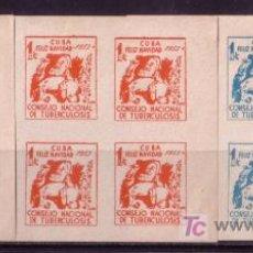 Sellos: CUBA MAGNIFICO ENSAYO MINT VIÑETAS 1953 PRO TUBERCULOSIS - FELIZ NAVIDAD EN CUADRO MINT SIN DENTAR. Lote 22045054