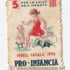 Sellos: PRO-INFANCIA SEGEL CATALA 1935. Lote 4420671