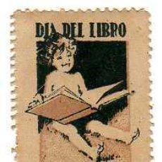Sellos: VIÑETA - DIA DEL LIBRO- 7 DE OCTUBRE (DÉCADA DE 1930). Lote 24782947