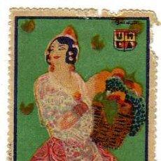 Sellos: VIÑETA - COMED MÁS FRUTA - UNEA- (DÉCADA DE 1930). Lote 24782907