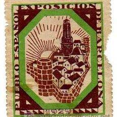 Sellos: VIÑETA - EXPOSICIÓN INTERNACIONAL DE BARCELONA 1929. Lote 24782954