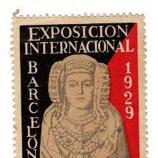 Sellos: VIÑETA - EXPOSICIÓN INTERNACIONAL DE BARCELONA 1929. Lote 24782948