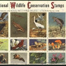 Sellos: HOJA 36 VIÑETAS NATIONAL WILDLIFE CONSERVATION STAMPS. 1956.. Lote 26490377