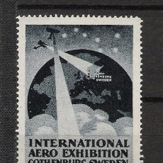 Francobolli: 0020 INTERNATIONAL AERO EXHIBITION COTHENBURG SWEDE 1923 0020. Lote 23719313
