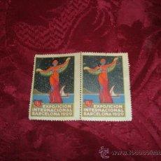 Sellos: LOTE 2 VIÑETAS EXPOSICION INTERNACIONAL BARCELONA 1929,THOMAS S A BARCELONA. Lote 9797484