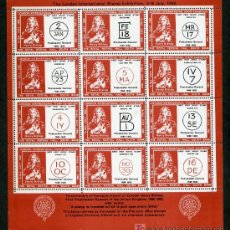 Sellos: *THE LONDON INTERNATIONAL STAMP EXHIBITION, 9-16 JULY 1960* HOJA-PLIEGO 189X205 MMS.. Lote 10613701