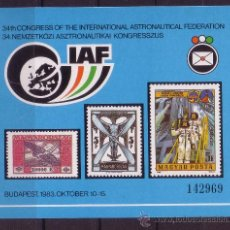 Sellos: HUNGRIA - AÑO 1983 - 34º CONGRESO DE LA FEDERACION INTERNACIONAL DE ASTRONAUTICA. Lote 10738929