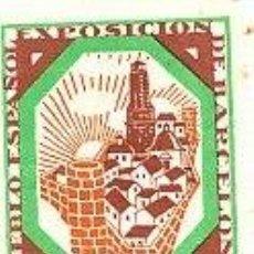 Sellos: VIÑETA DE LA EXPOSICION INTERNACIONAL DE BARCELONA 1929 . Lote 12718433