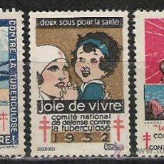 Sellos: 162-VIÑETAS LUCHA CONTRA LA TUBERCULOS.AÑOS 1929,1932 Y 1927 ALTO VALOR. Lote 13665593