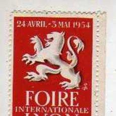 Sellos: VIÑETA FRANCESA LYON FOIRE 1954. Lote 18737239