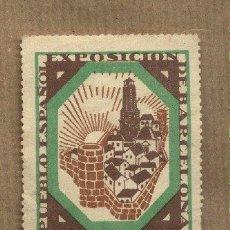 Sellos: VIÑETA PUEBLO ESPAÑOL.EXPOSICIÓN INTERNACIONAL DE BARCELONA 1929. Lote 24458733