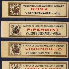 Sellos: LOGOTIPO DE LA GENERALITAT VALENCIA LICORES BERNABEU XATIVA CUELLO DE BOTELLA. Lote 139378518