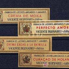 Sellos: LOGOTIPO DE LA GENERALITAT VALENCIA LICORES BERNABEU XATIVA CUELLO DE BOTELLA. Lote 139378657