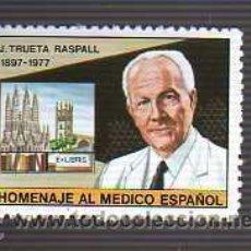 Francobolli: VIÑETA HOMENAJE AL MEDICO - J,TRUETA RASPALL EX LIBRIS. Lote 22597916