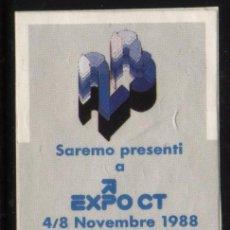 Sellos: S-2634- ITALIA. ITALY. VIÑETA. FIERA DI MILANO. EXPO CT 1988.. Lote 22924489