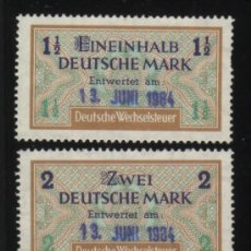 Stamps - S-2812- ALEMANIA. GERMANY. SELLOS FISCALES. DEUTSCHE WECHSELSTEUR. - 23781393