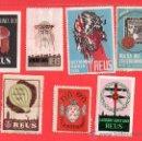 Sellos: SIETE VIÑETAS DE REUS DE LOS AÑOS DE - 1955 - 1961 - 1967 - 1968 - 1969 - 1975 - 1976. Lote 24330625