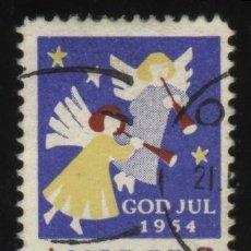 Sellos: S-2991- NORUEGA. NORGE. VIÑETA. GOD JUL 1954. PRO TUBERCULOSOS. CRUZ DE LORENA.. Lote 24842591