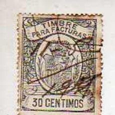 Timbres: VIÑETA TIMBRE PARA FACTURAS VARIEDAD DE 0,30 PESETAS. Lote 45055159