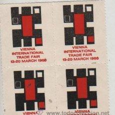 Sellos: BLOQUE DE 4 VIÑETAS AUSTRIA VIENA WIENER 1966. Lote 28961113