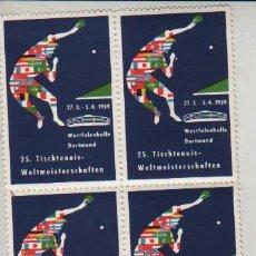 Briefmarken - bloque de 4 viñetas ALEMANIA DORTMUND 1959 TENNIS TENIS - 29223357