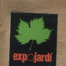 Sellos: VIÑETA ADHESIVO EXPO JARDI EXPOJARDÍ. REUS 1982. Lote 30725688