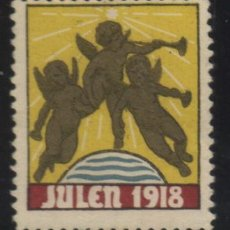 Sellos: S-4817- NORUEGA. NORGE. VIÑETA. JULEN 1918.. Lote 31867190