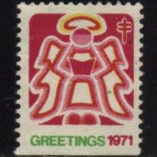 Sellos: S-4885- USA. VIÑETA. GREETINGS 1971. PRO TUBERCULOSOS. CRUZ DE LORENA.. Lote 32011502