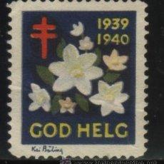 Sellos: S-4928- SUECIA, SVERIGE. VIÑETA. GOD HELG. 1939. PRO TUBERCULOSOS. CRUZ DE LORENA.. Lote 32090623