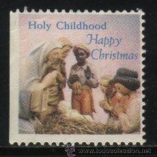 Sellos: S-4962- USA. VIÑETA. HOLY CHILDHOOD. HAPPY CHRISTMAS.. Lote 32119524