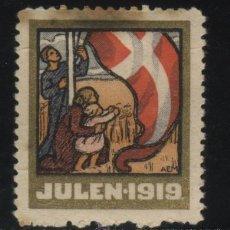 Sellos: S-5538- NORUEGA. NORGE. VIÑETA. JULEN 1919.. Lote 32694502