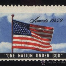 Timbres: S-5558- USA. VIÑETA. AMVETS 1959. ONE NATION UNDER GOD.. Lote 32721858