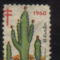 Sellos: S-5720- MÉXICO. VIÑETA. FELICES PASCUAS 1960. PRO TUBERCULOSOS. CRUZ DE LORENA.. Lote 32877842