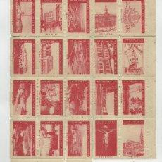 Sellos: 1ª EXPOSICIÓN FILATELICA TORRELAVEGUENSE TORRELAVEGA 1947 VIÑETAS. Lote 36344030
