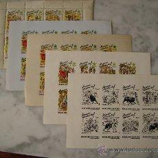 Sellos: 5 MINIPLIEGOS 1 DENTADO Y (4 SIN DENTAR VARIEDAD DE COLOR ) BARCELONA-AÑO 1961-CONGRESO DE ESPERANTO. Lote 36415574