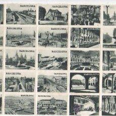 Sellos: RARA HOJITA DE VIÑETAS DE BARCELONA - PER PETRIOTISME FEU CIRCULAR AQUETS SEGELL. Lote 37461918