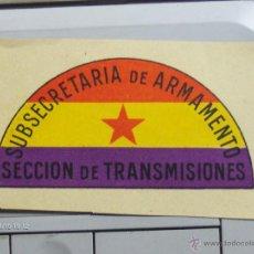 Sellos: SUBSECRETARIA DE ARMAMENTO SECCION DE TRANSMISIONES . Lote 39992174