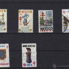 Francobolli: VIÑETA VIÑETAS : MEJICO MEXICO , CONTRA TUBERCULOSIS / PRO TUBERCULOSOS . Lote 40355277