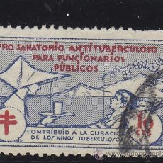 Sellos: VIÑETA VIÑETAS : PRO SANATARIO ANTITUBERCULOSO FUNCIONARIOS - TUBERCULOSIS / PRO TUBERCULOSOS . Lote 40355706