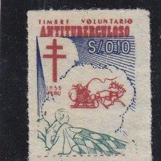 Sellos: VIÑETA VIÑETAS : PERU AÑO 1955 NAVIDAD CONTRA TUBERCULOSIS / PRO TUBERCULOSOS. Lote 40356164