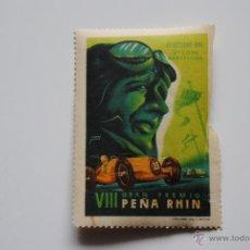 Sellos: VIÑETA VIII GRAN PREMIO PEÑA RHIN 27 DE OCTUBRE 1946 5,00 X 7,00 CM. Lote 42029029