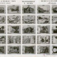 Timbres: HOJA DE 25 VIÑETAS DE MONTSERRAT Y NURIA, 1929.. Lote 42099157